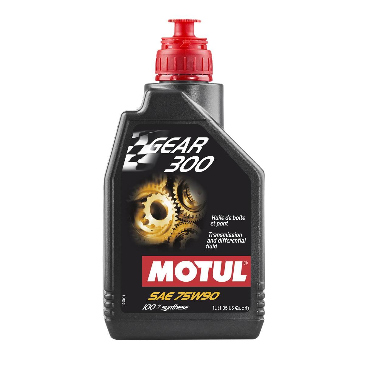 Huile boîte de vitesses Gear 300 100% synthèse Motul 1L