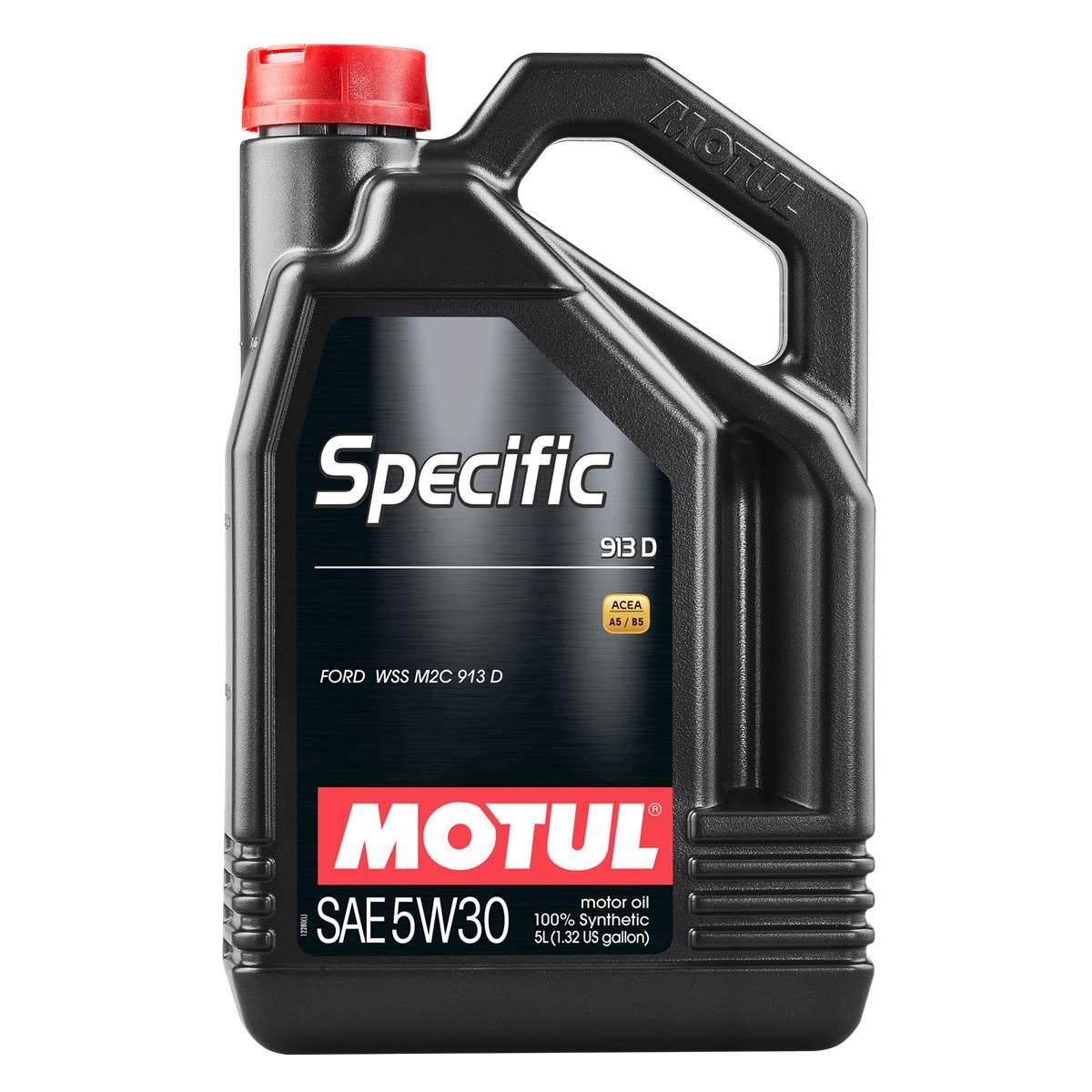 Huile moteur MOTUL Specific Ford 913D Essence/Diesel 5W30 5L