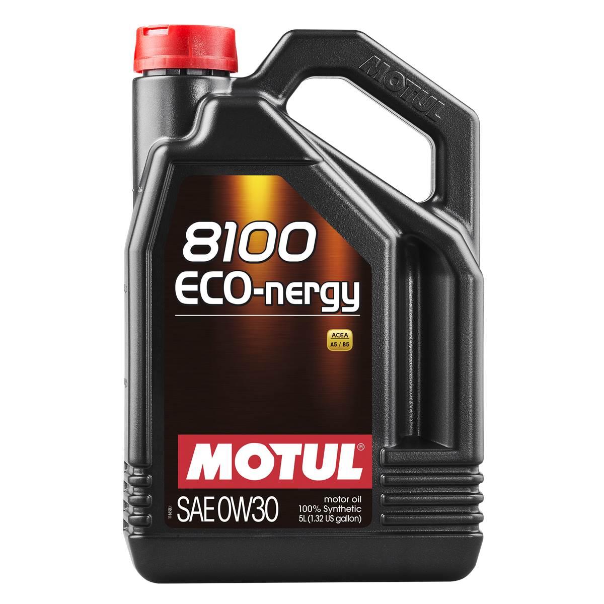 Huile moteur Motul 8100 Eco-Nergy essence/diesel 0W30 5L