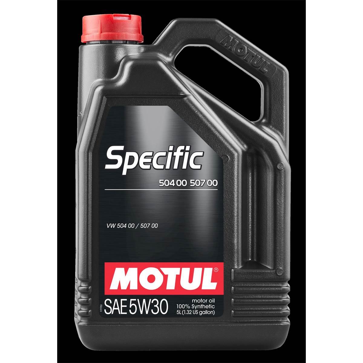 Huile moteur MOTUL Specific 504.00 507.00 Essence/Diesel 5W30 5L