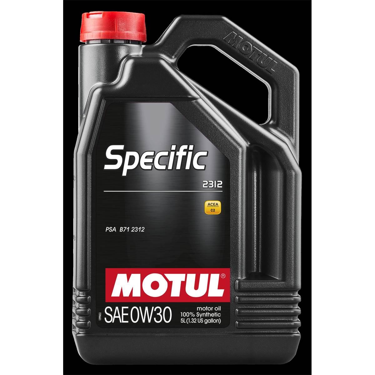 Huile moteur MOTUL Specific 2312 Essence/Diesel 0W30 5L