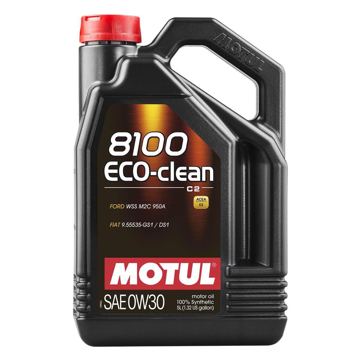 Huile moteur MOTUL 8100 EcoClean Essence/Diesel 0W30 5L
