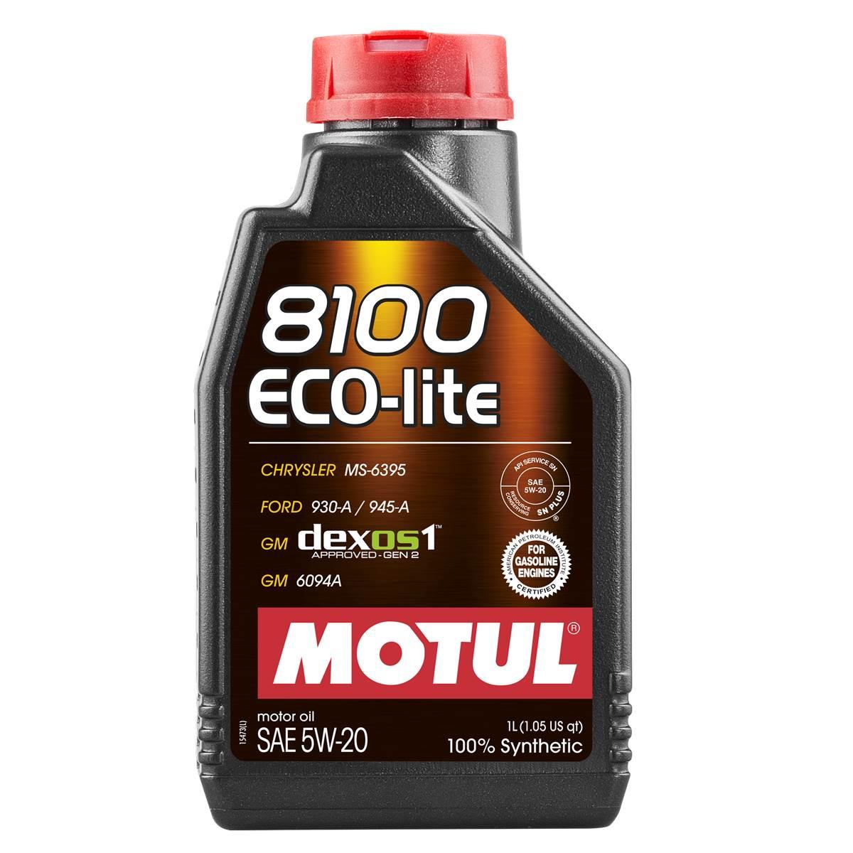 Huile moteur MOTUL 8100 Eco-Lite 5W20 1L