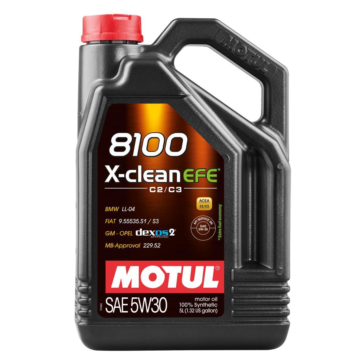 Huile moteur MOTUL 8100 EFE Essence/Diesel 5W30 5L