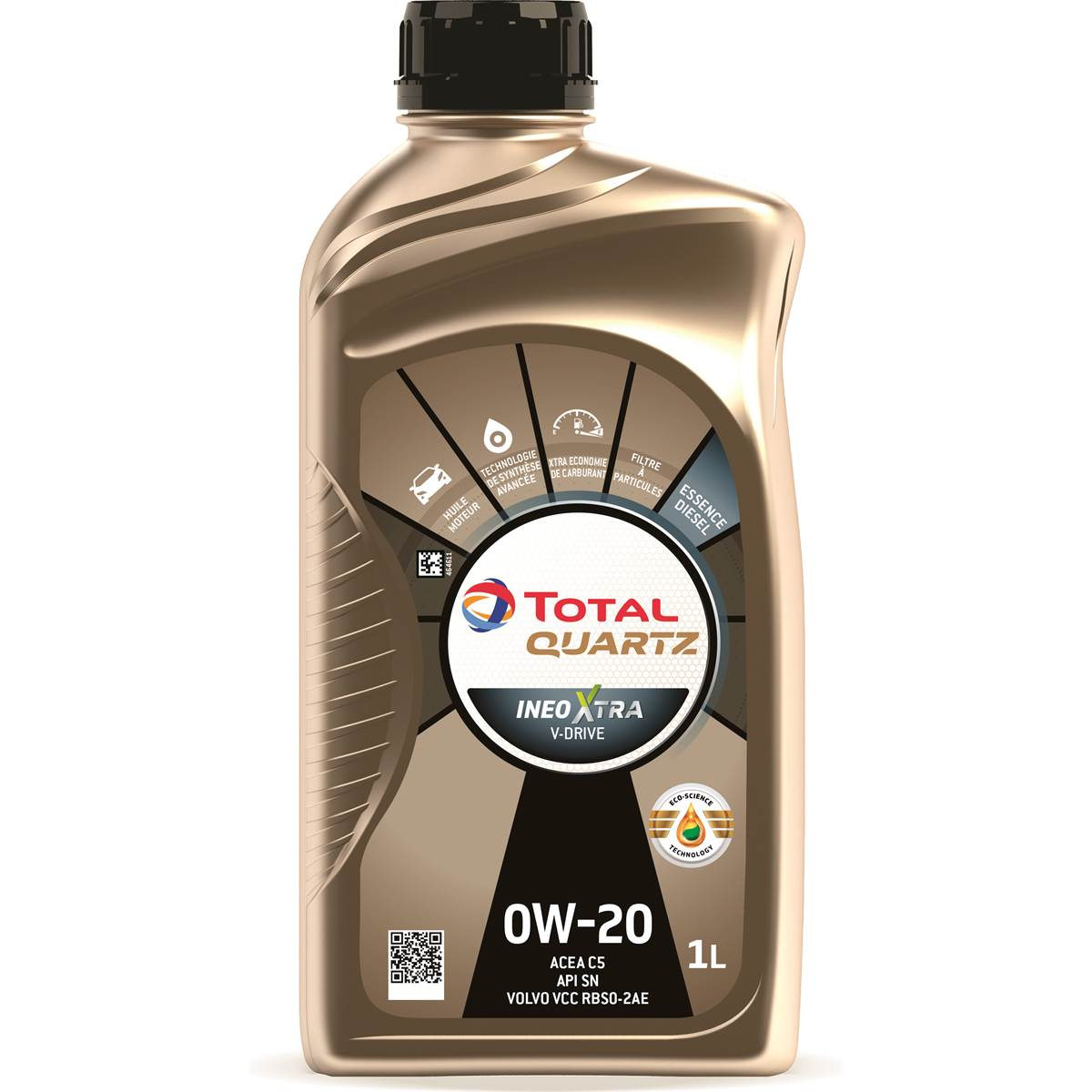 Huile moteur TOTAL Quartz Ineo Xtra V-Drive Essence/Diesel 0W20 1L