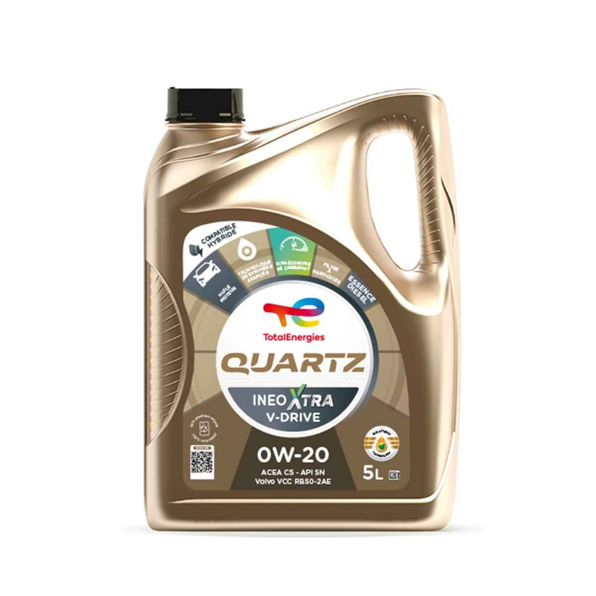 Huile moteur TOTAL Quartz Ineo Xtra V-Drive Essence/Diesel 0W20 5L