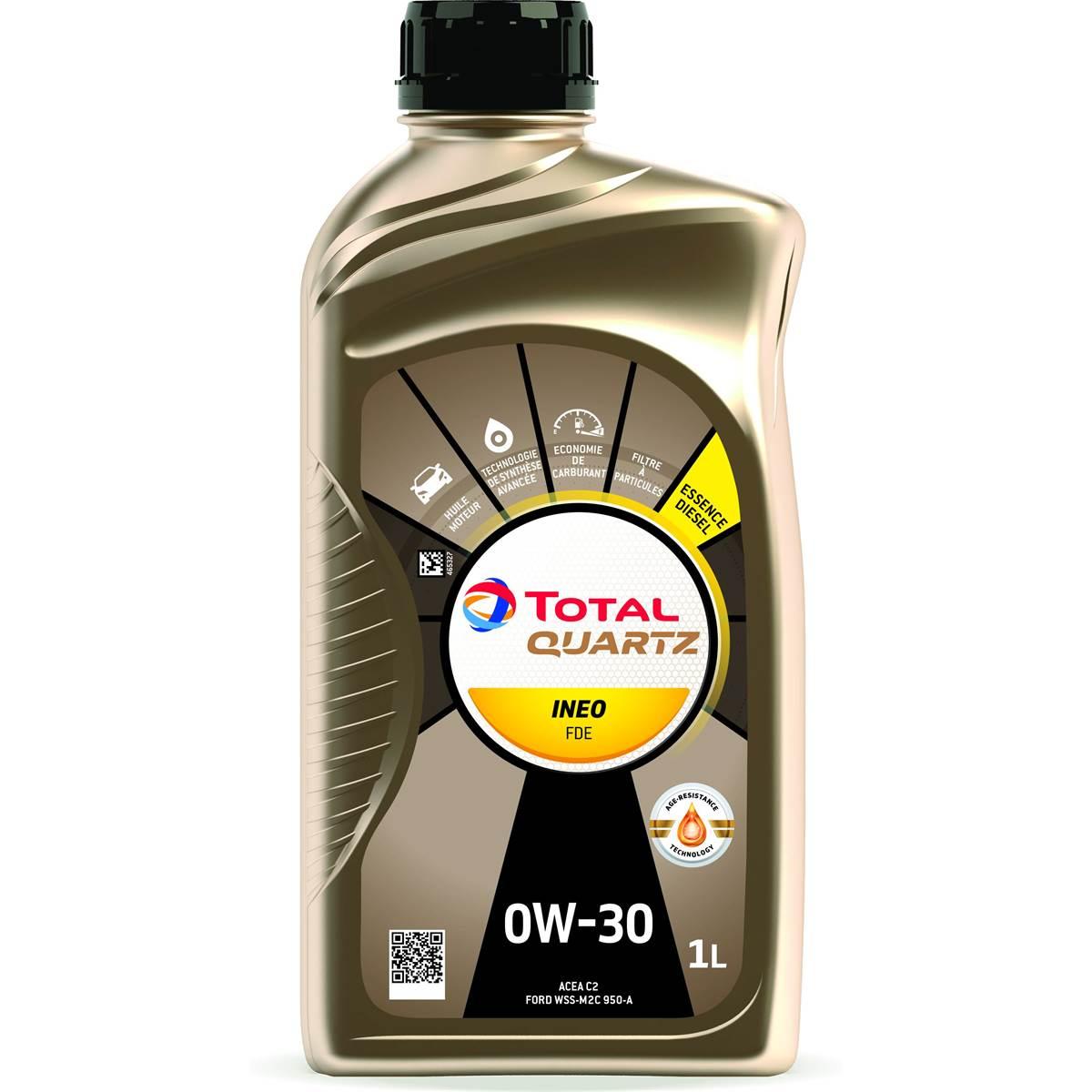 Huile moteur TOTAL Quartz Ineo FDE 0W30 Essence/Diesel 1L