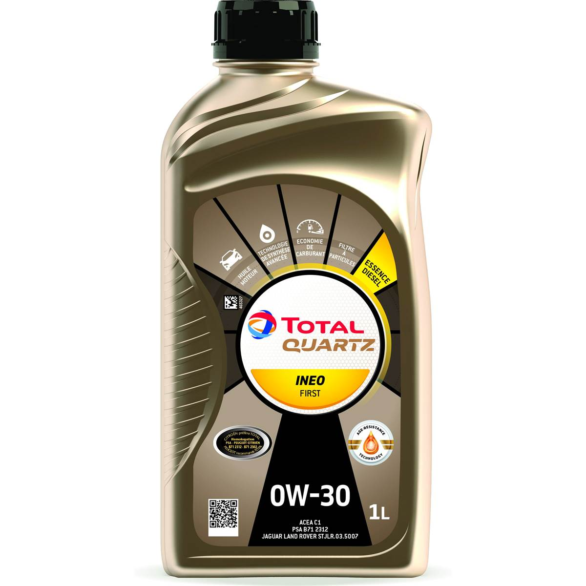 Huile moteur TOTAL Quartz Ineo First 0W30 Essence/Diesel 1L