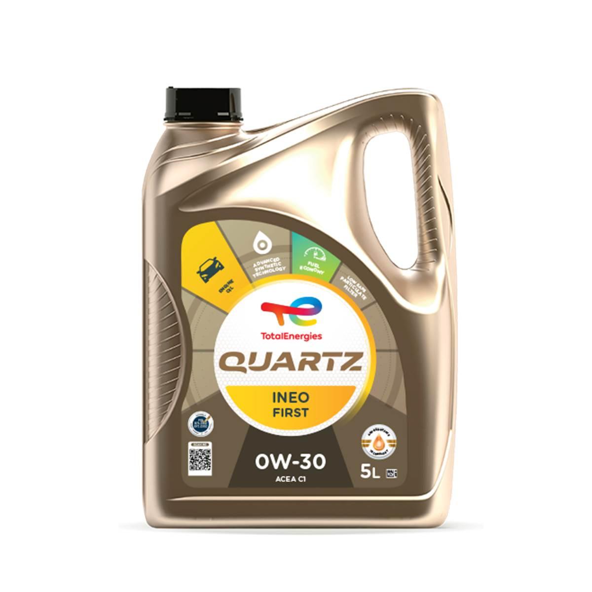 Huile moteur TOTAL Quartz Ineo First 0W30 Essence/Diesel 5L