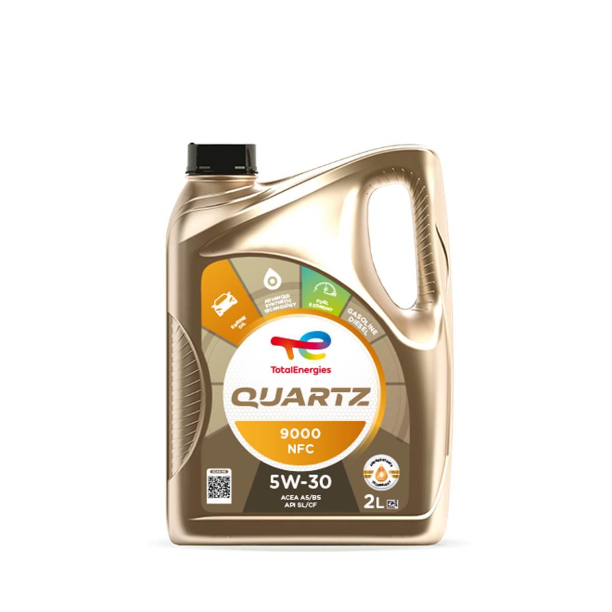 Huile moteur TOTAL Quartz 9000 NFC 5W30 Essence/Diesel 2L
