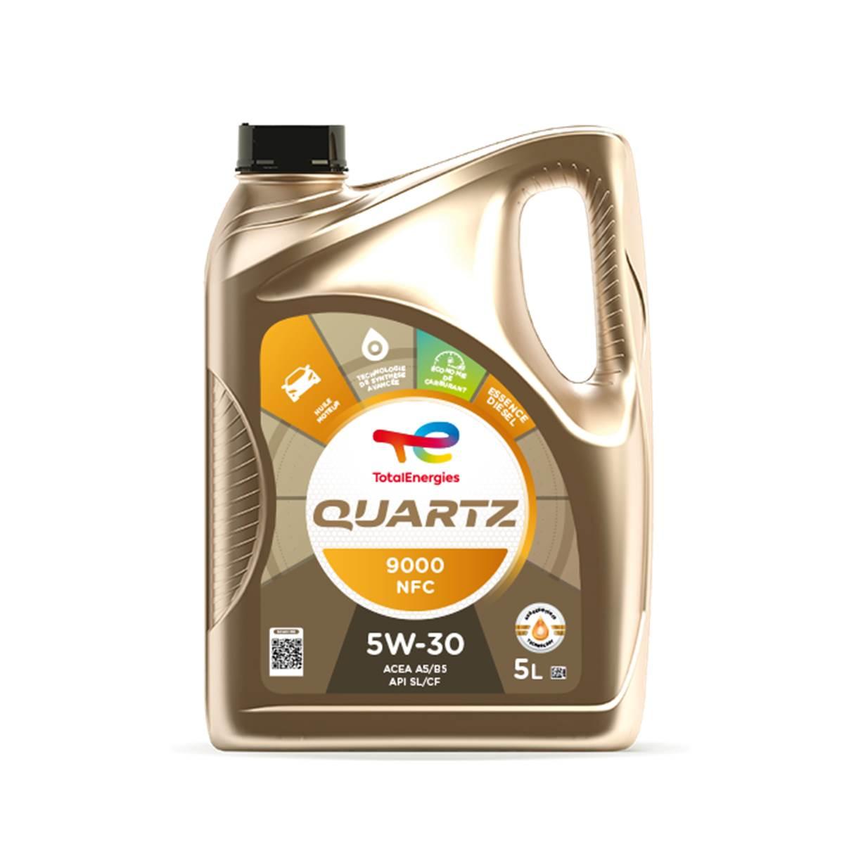 Huile moteur TOTAL Quartz 9000 NFC 5W30 Essence/Diesel 5L