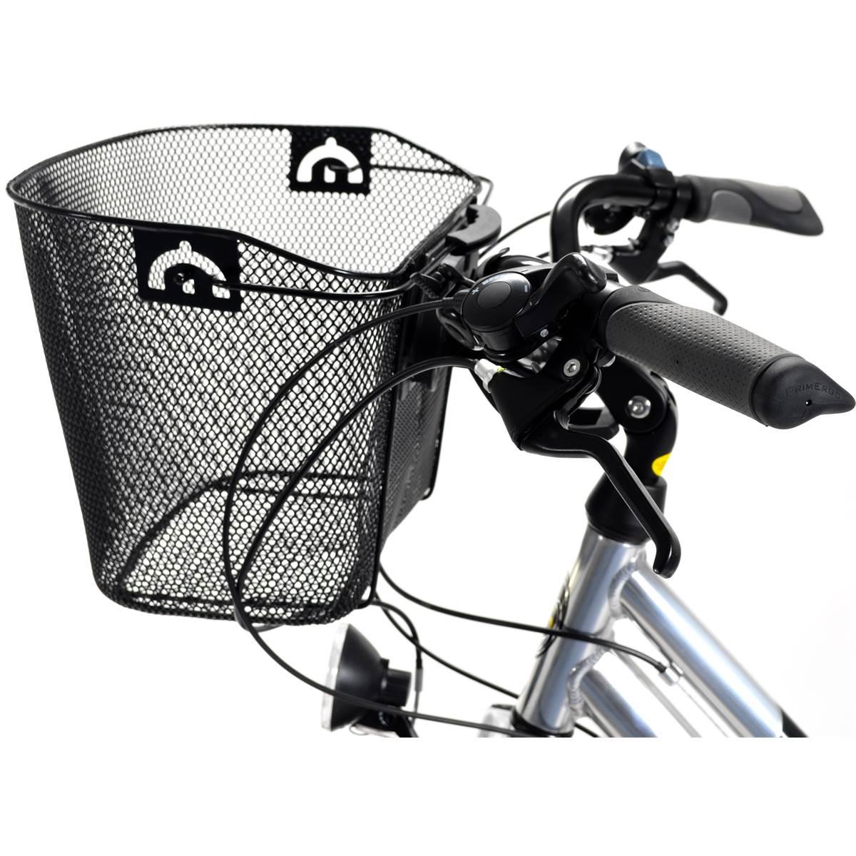 Panier en acier noir pour fixation à l'avant du vélo Oxus