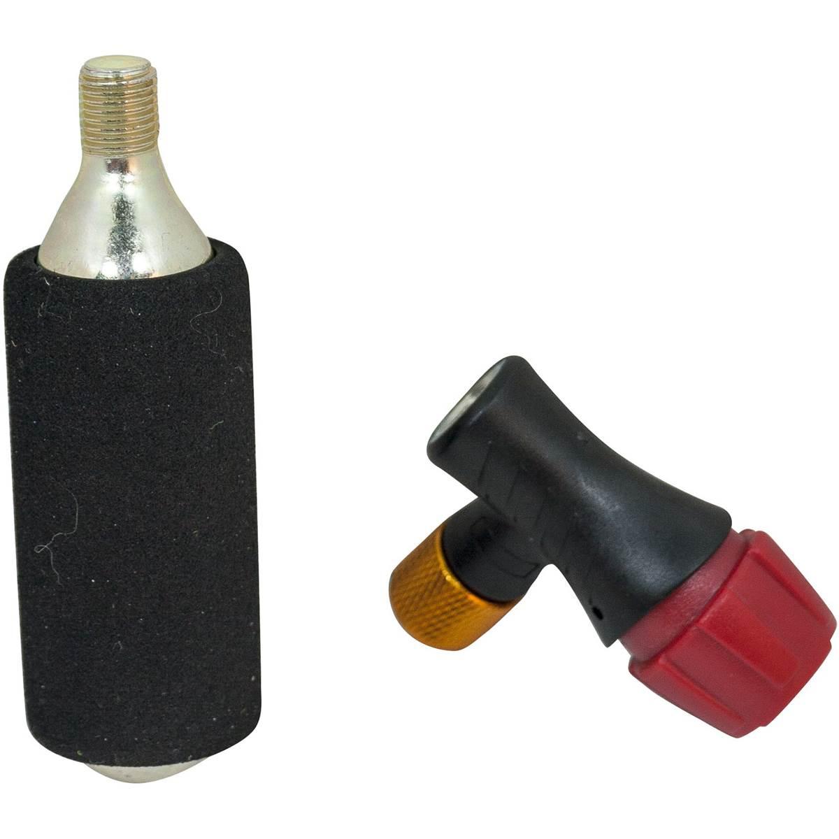 Adaptateur et cartouche CO² pour pompe à vélo DURCA